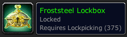 Lockpicking 375 requires level 75!