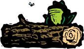 It's a log! (And a frog.) Get it? (Hint: The frog is irrelevant.)
